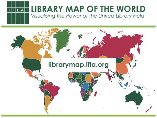 Mapa de Bibliotecas del Mundo