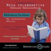 Invitación a participar en la mesa de trabajo sobre bibliotecas escolares